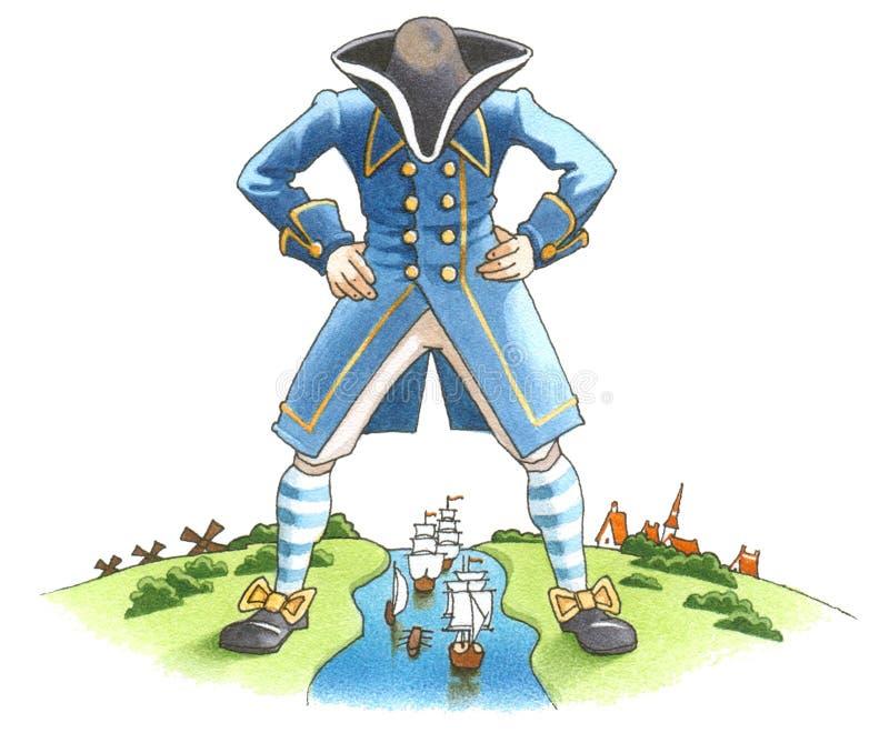 Cursos de Gulliver ilustração royalty free