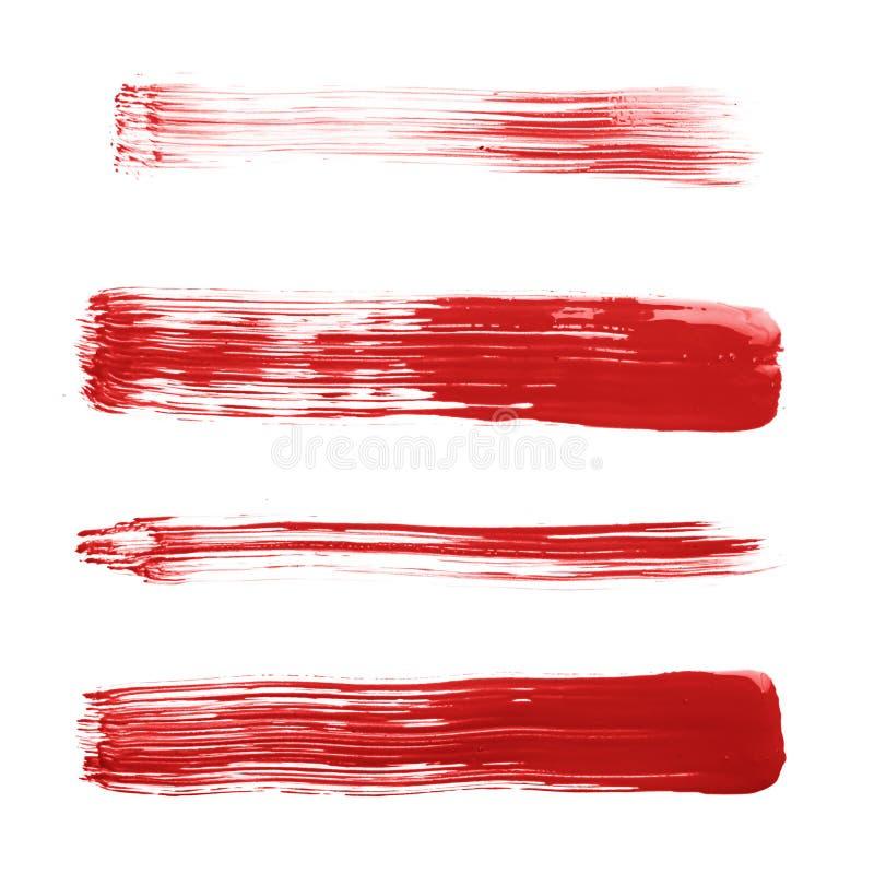 Cursos retos da escova de pintura do óleo imagem de stock royalty free