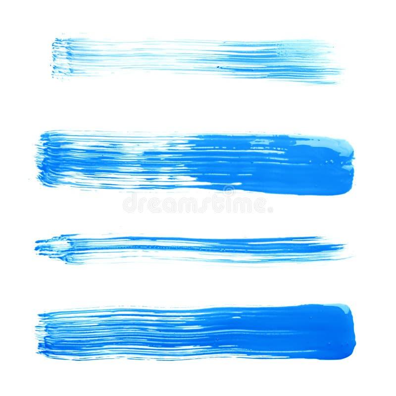 Cursos retos da escova de pintura do óleo fotos de stock