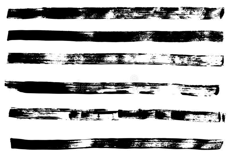 Cursos tirados mão da escova do Grunge ilustração royalty free