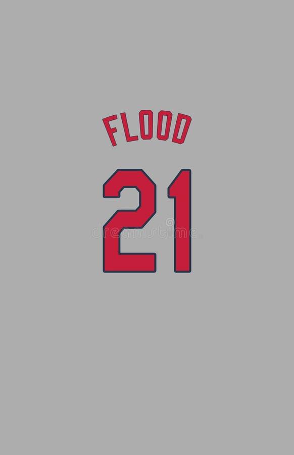 Curt Flood, St Louis Cardinals Jersey Back fotos de archivo libres de regalías