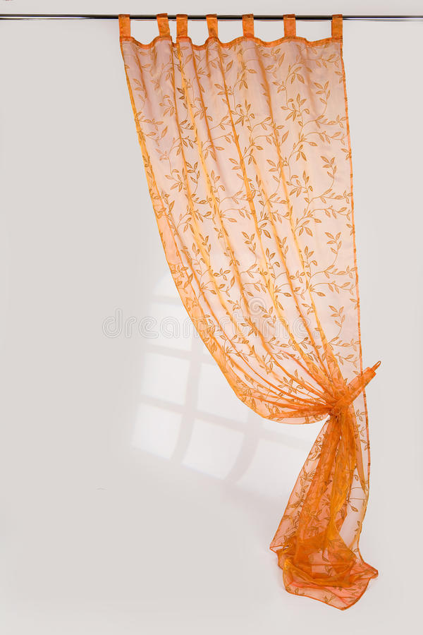 The Curtain. The lace curtain on a background royalty free stock photography