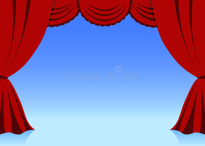 Download Curtain stock vector. Image of classic, trim, frame, scene - 15709860