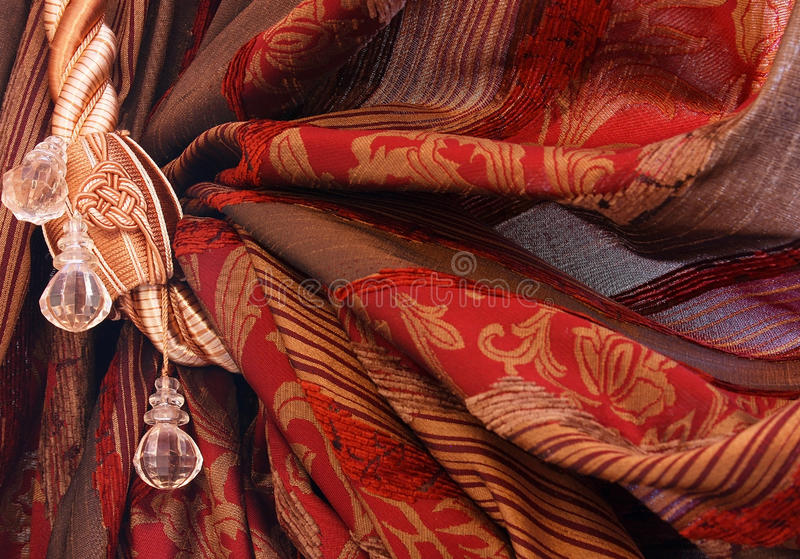 Download Curtain stock photo. Image of adorning, cord, crease - 26959526