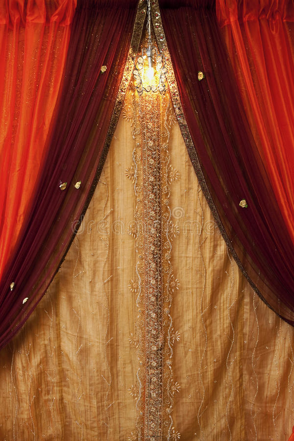 Curtain background. With a crystal light royalty free stock photo