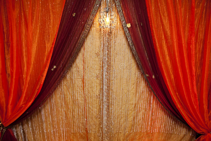 Curtain Background. With a crystal light royalty free stock image