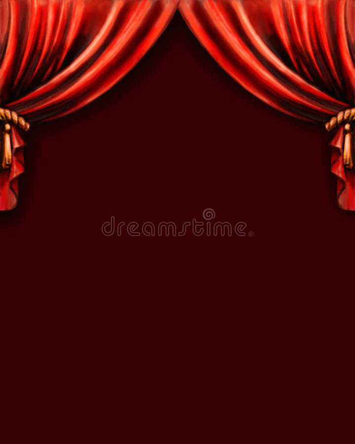 curtain, background Theatre vector illustration