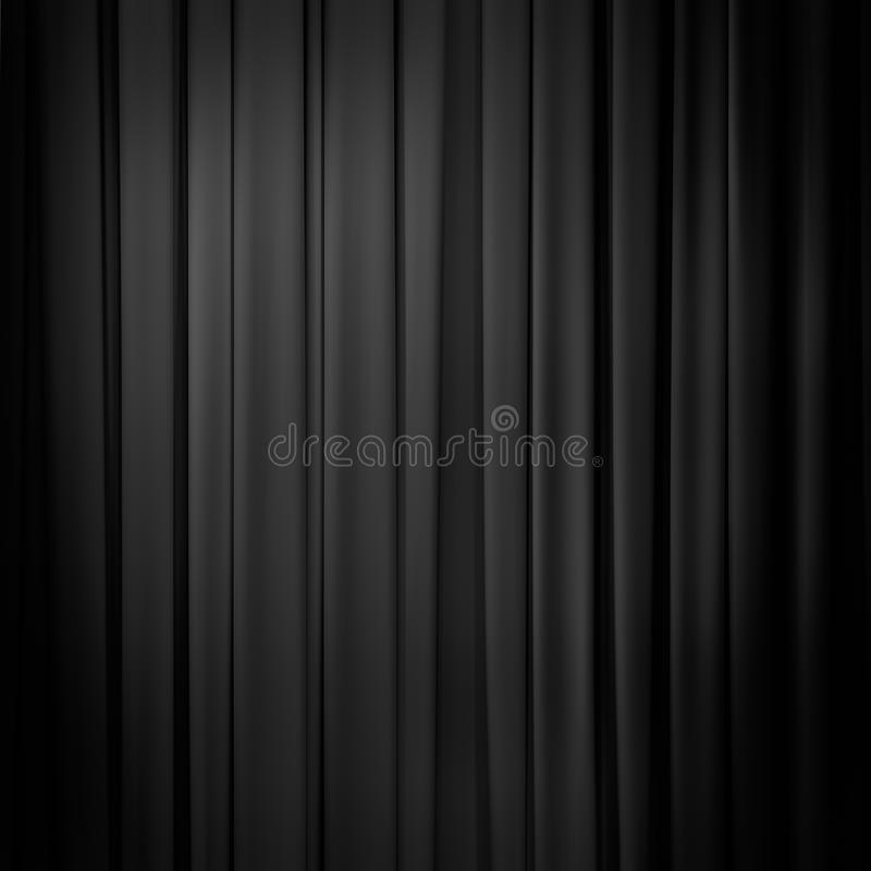 Curtain black background. Curtain or drapes black background royalty free stock image