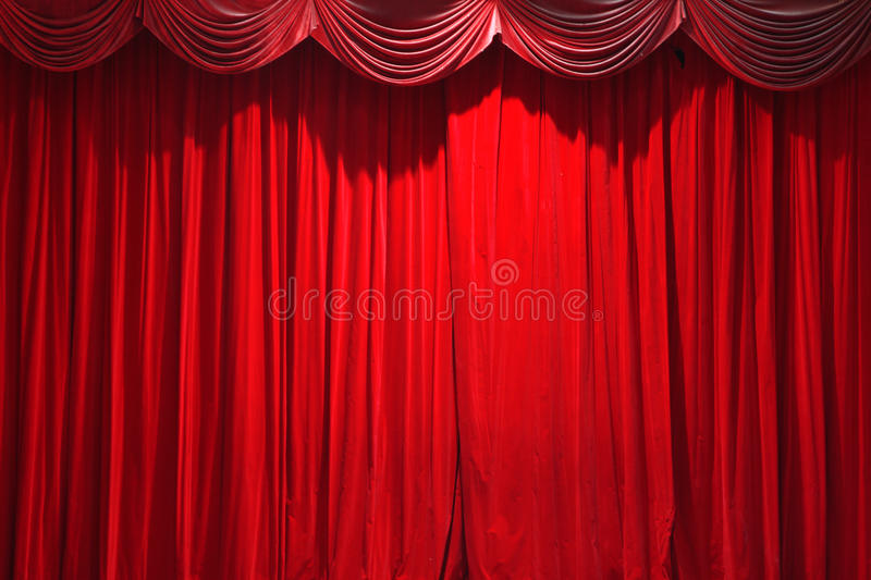 Curtain of a classical theater royalty free stock images