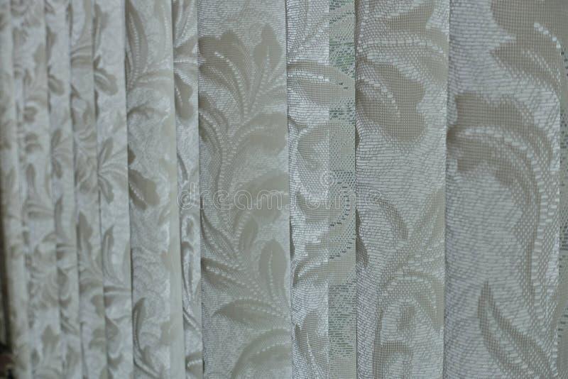Curtain. Closeup texture on white curtain stock photo