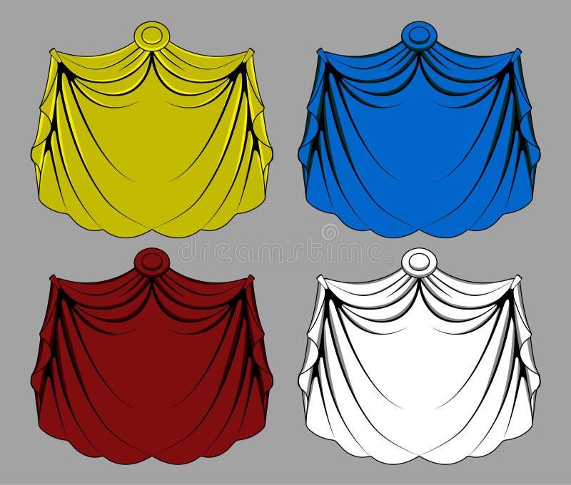 Curtain Cloth royalty free illustration