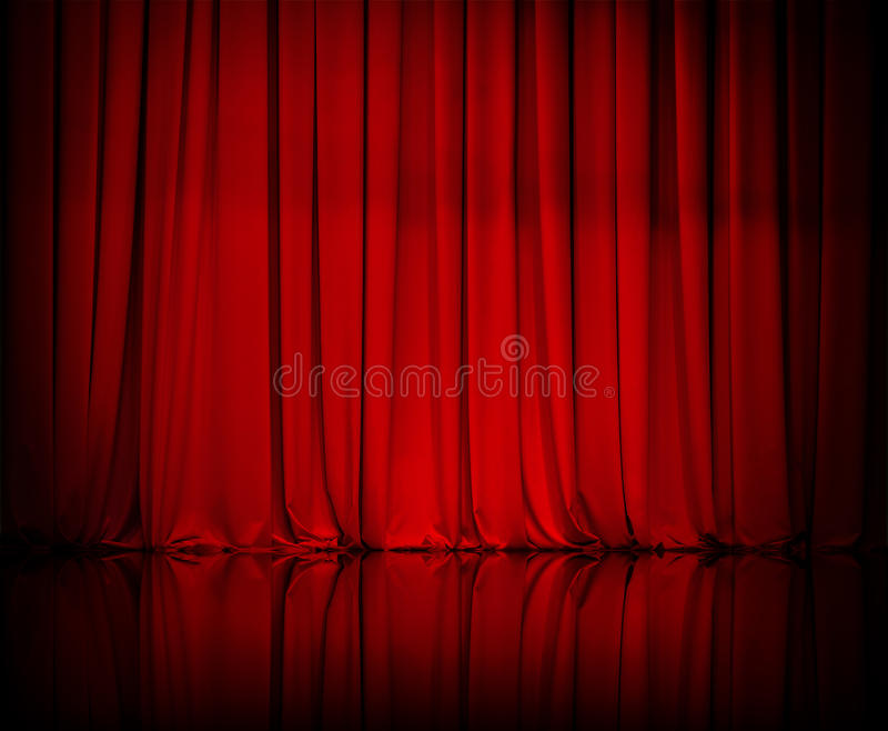 Curtain or drapes red background royalty free stock photography