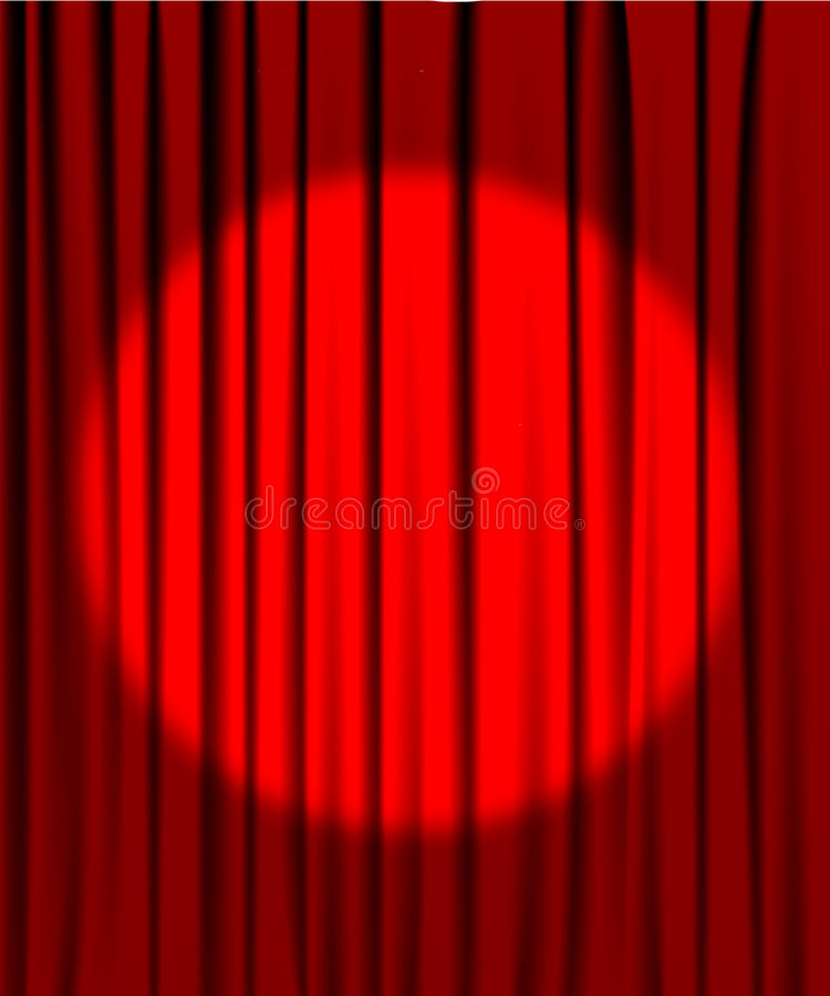 Free Curtain From The Theatre With A Spotlight Stock Image - 13406441