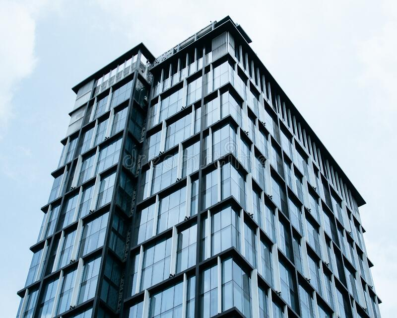 Curtain Glass Building Under Blue Sky royalty free stock image