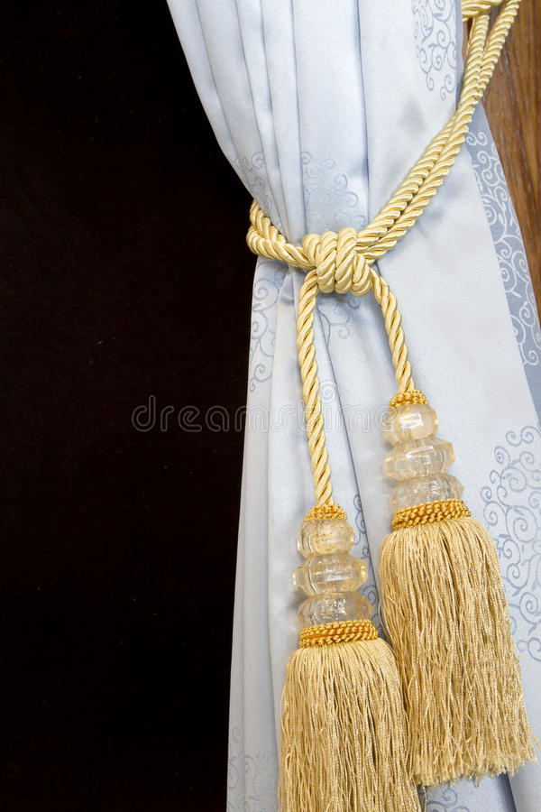 Download A Curtain Hold Back By Tassel Stock Image - Image: 23888549