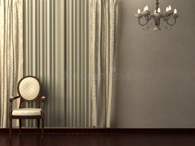 Curtain Interior. stock photo