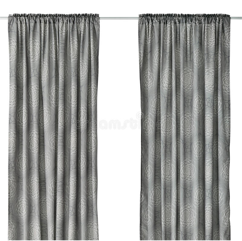 Curtain isolated on white royalty free stock photography
