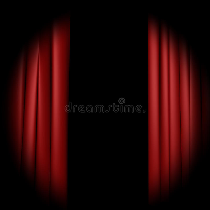 curtain lights απεικόνιση αποθεμάτων