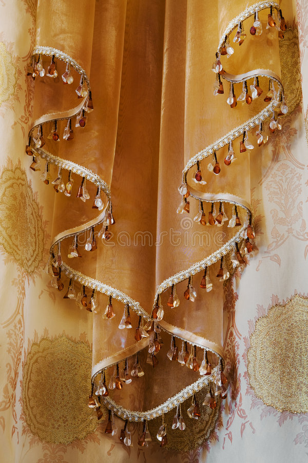 Curtain with an ornament royalty free stock image