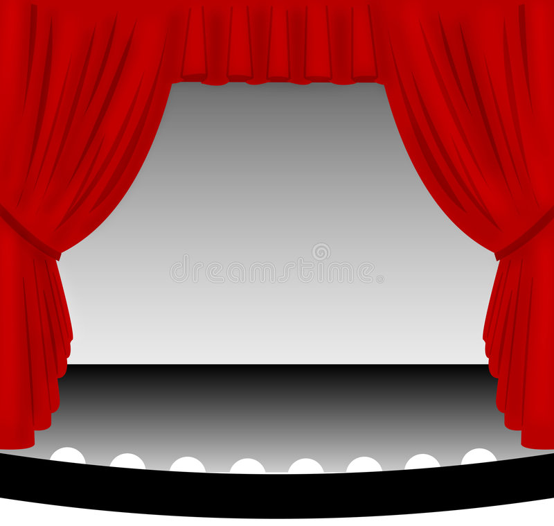 curtain red stage απεικόνιση αποθεμάτων