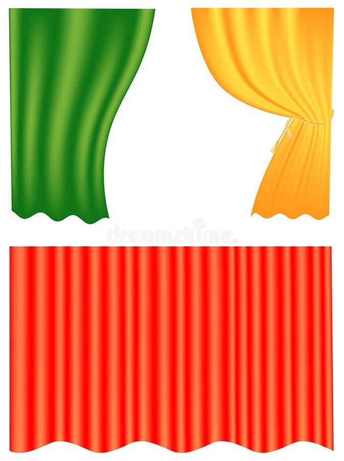 Curtain set stock illustration