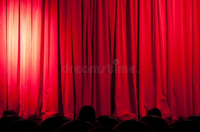 Download A curtain with spotlights stock illustration. Image of hollywood - 13004116