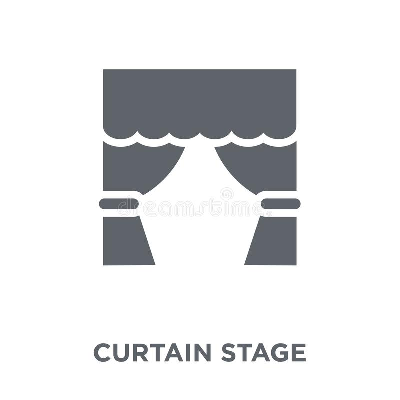 curtain stage icon from Entertainment collection. royalty free illustration