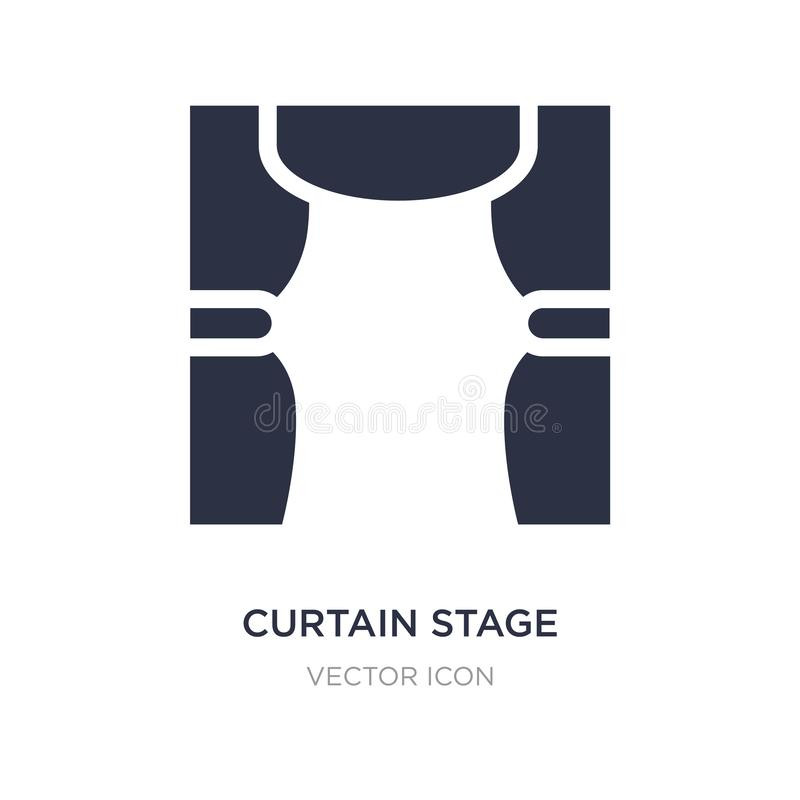 curtain stage icon on white background. Simple element illustration from Entertainment and arcade concept royalty free illustration