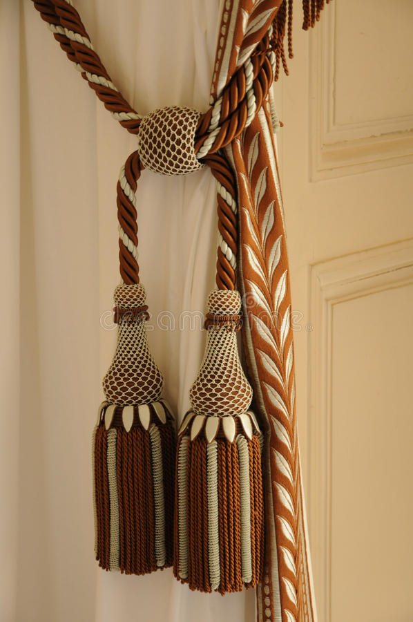 Curtain and tassel stock image