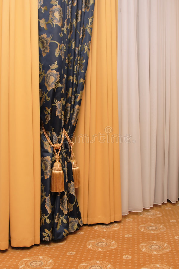 Curtain With Tassel Royalty Free Stock Images