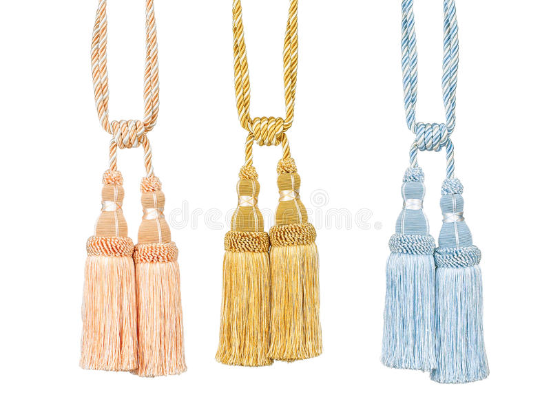 Curtain tassels. For decorate your home stock image