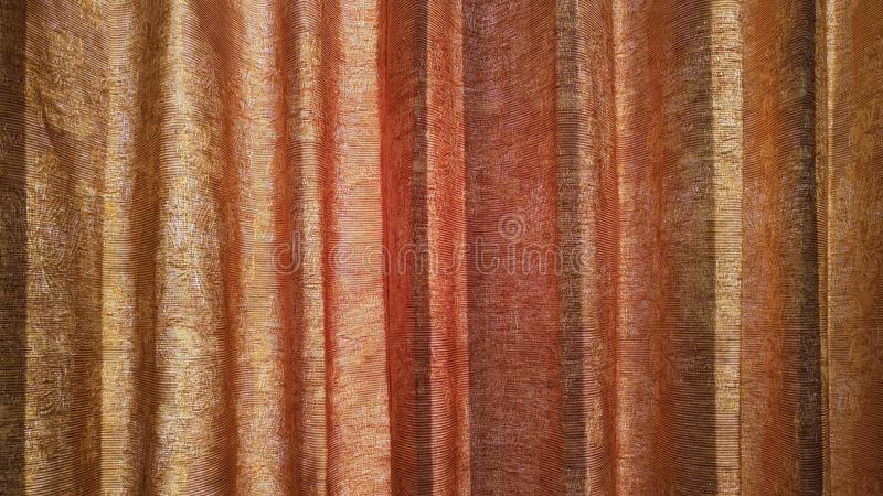 Curtain texture and sunlight. royalty free stock images