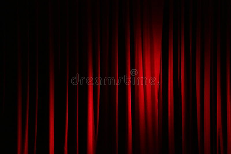 Curtain in a theatre stock images