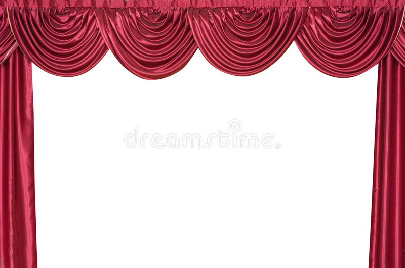 Curtain on a theatre scene. royalty free stock image