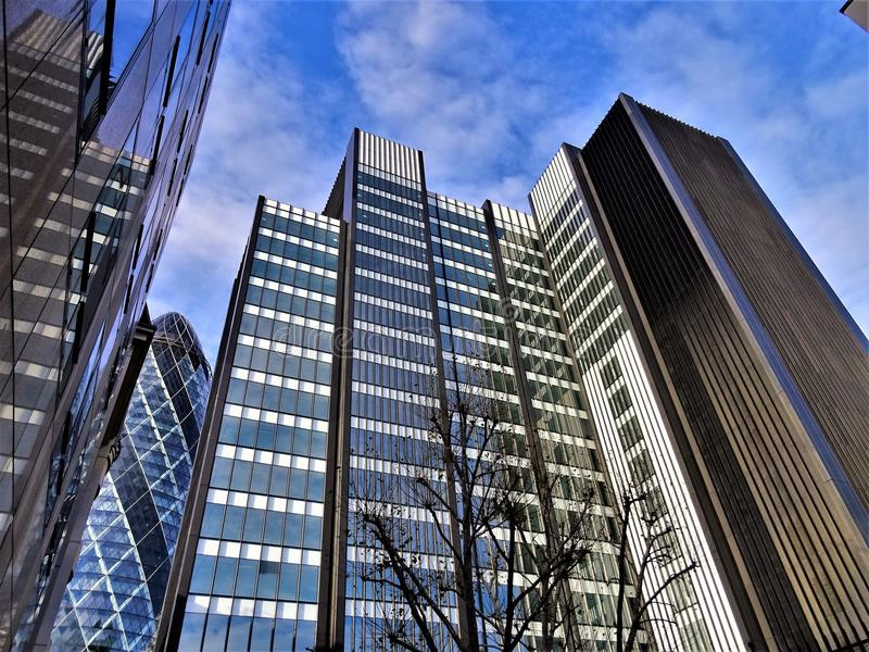 Curtain Wall Building Under Cloudy Sky stock image