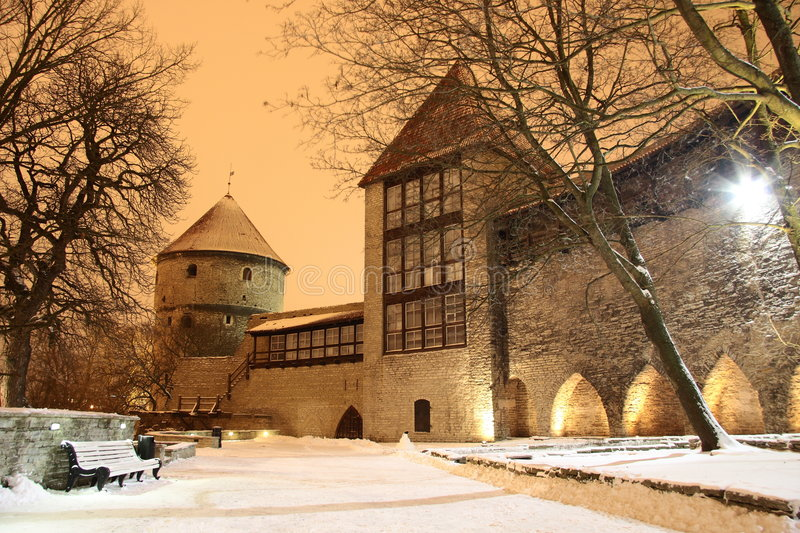 Download Curtain Wall Of The Old Town In Tallinn Stock Photo - Image of obscure, eesti: 4068444