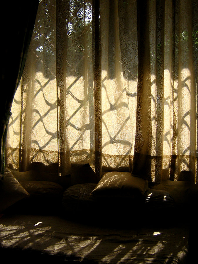 Curtains. Beautiful Curtains in an Indian House royalty free stock photography