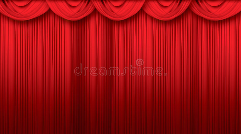 Curtains. Big Red velvet theater curtains