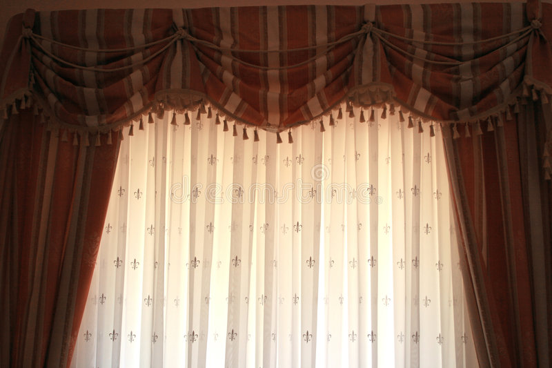 Download Curtains stock image. Image of fancy, house, designer - 3177751