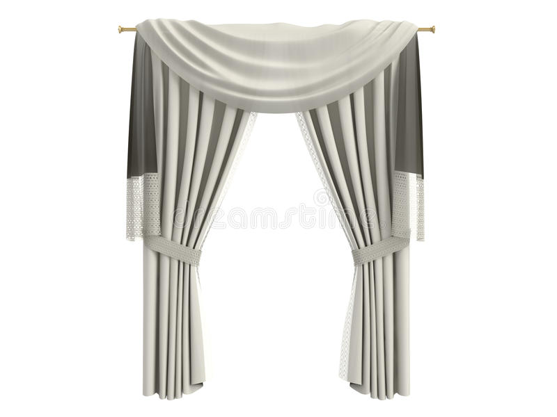 Curtains vector illustration