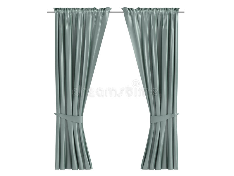 Curtains stock illustration
