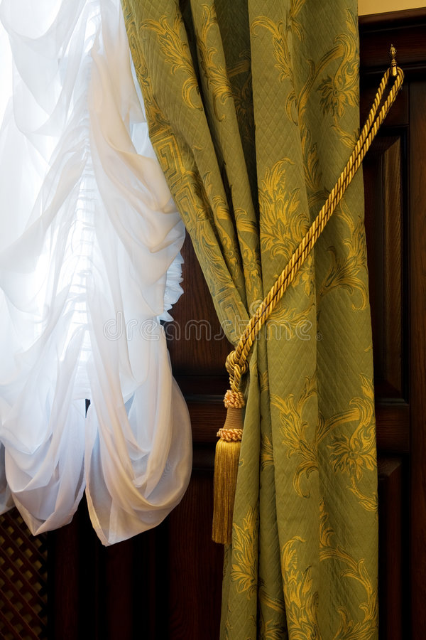 Download Curtains with an ornament stock photo. Image of blind - 6166592
