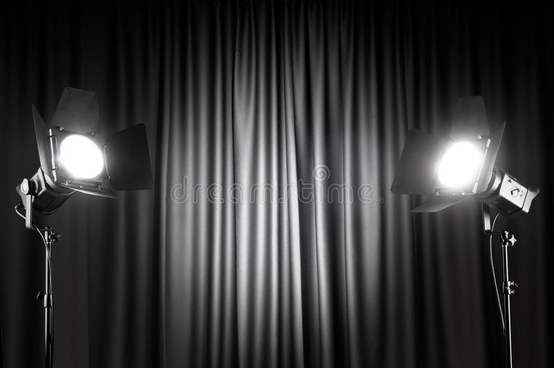 Download Curtains and projector stock photo. Image of event, drapery - 19403084