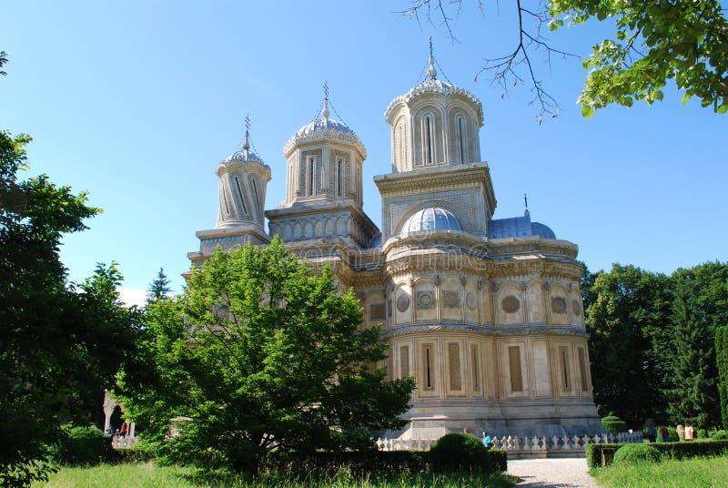 Curtea de Arges monastery stock photo