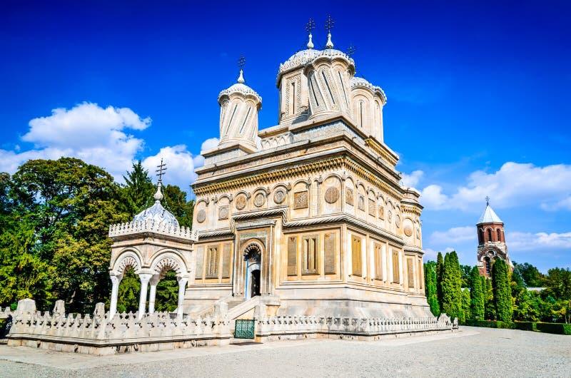 Curtea de Arges, Romania - monastero di Basarab immagini stock libere da diritti
