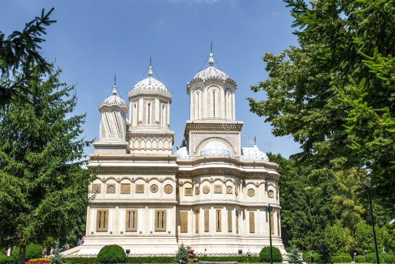 CURTEA DE ARGES, ROMANIA - monastero di JULI 24,2016 Arges immagini stock