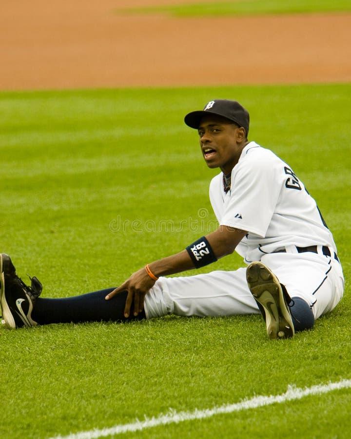 Curtis Granderson van de Detroit Tigers stock afbeelding