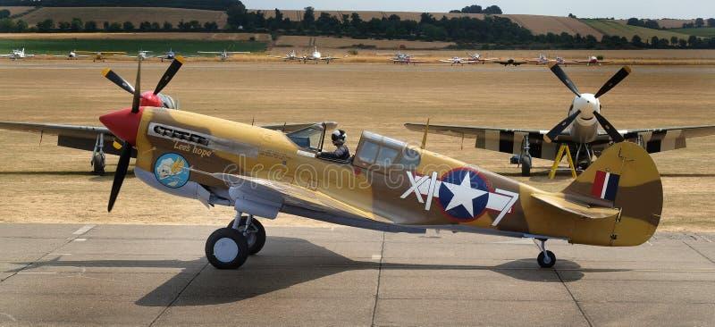 Curtis P40F Warhawk, wojny światowa dwa amerykanina wojownik obrazy stock