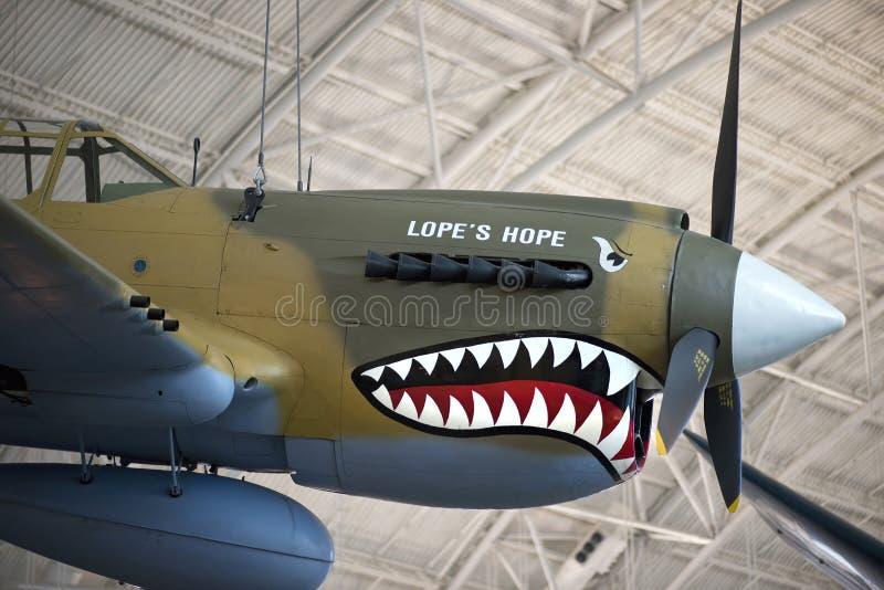 Curtiss p-40E Warhawk royalty-vrije stock fotografie