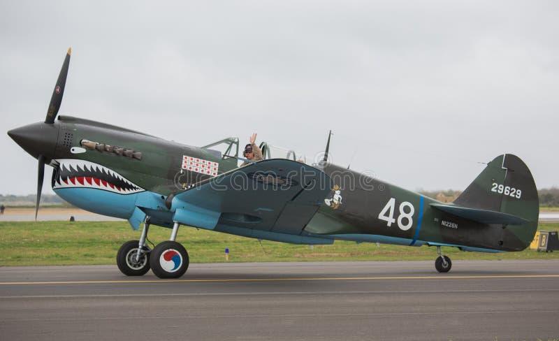 Curtiss p-40 Kittyhawk stock afbeelding